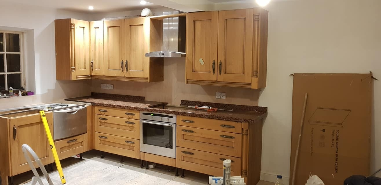 Amazing new kitchen being installed - almost done!
