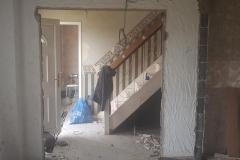 double doors removed, stud wall to go in next